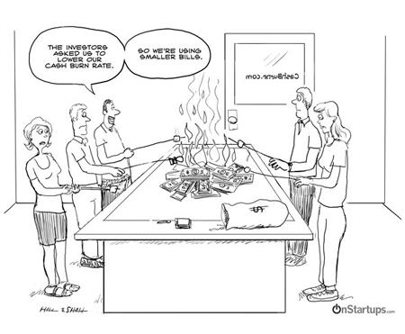 salario-startup-emprendedor-inversor-quemar-dinero
